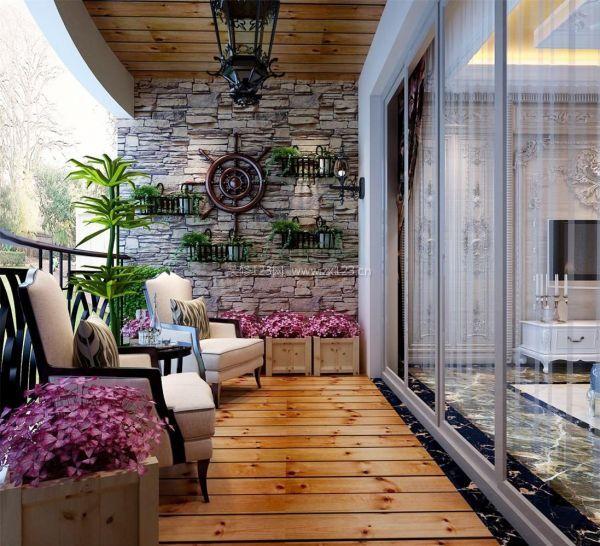 家庭客厅阳台装修图