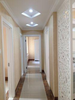 简欧风格室内小走廊菱形吊顶效果图图片