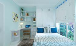 2017现代新房卧室书柜设计装修效果图图片