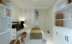 2017簡約家居次臥室白色衣柜設計裝修圖片