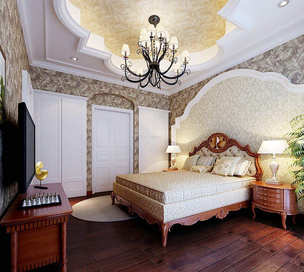 2017美式装修卧室背景墙设计效果图欣赏
