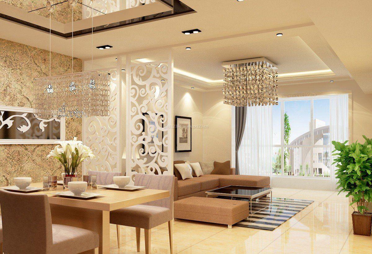家装效果图 客厅 2017餐厅与客厅镂空雕花室内屏风设计图 提供者