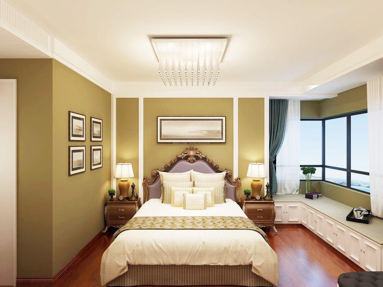 2017美式装修卧室背景墙设计效果图赏析