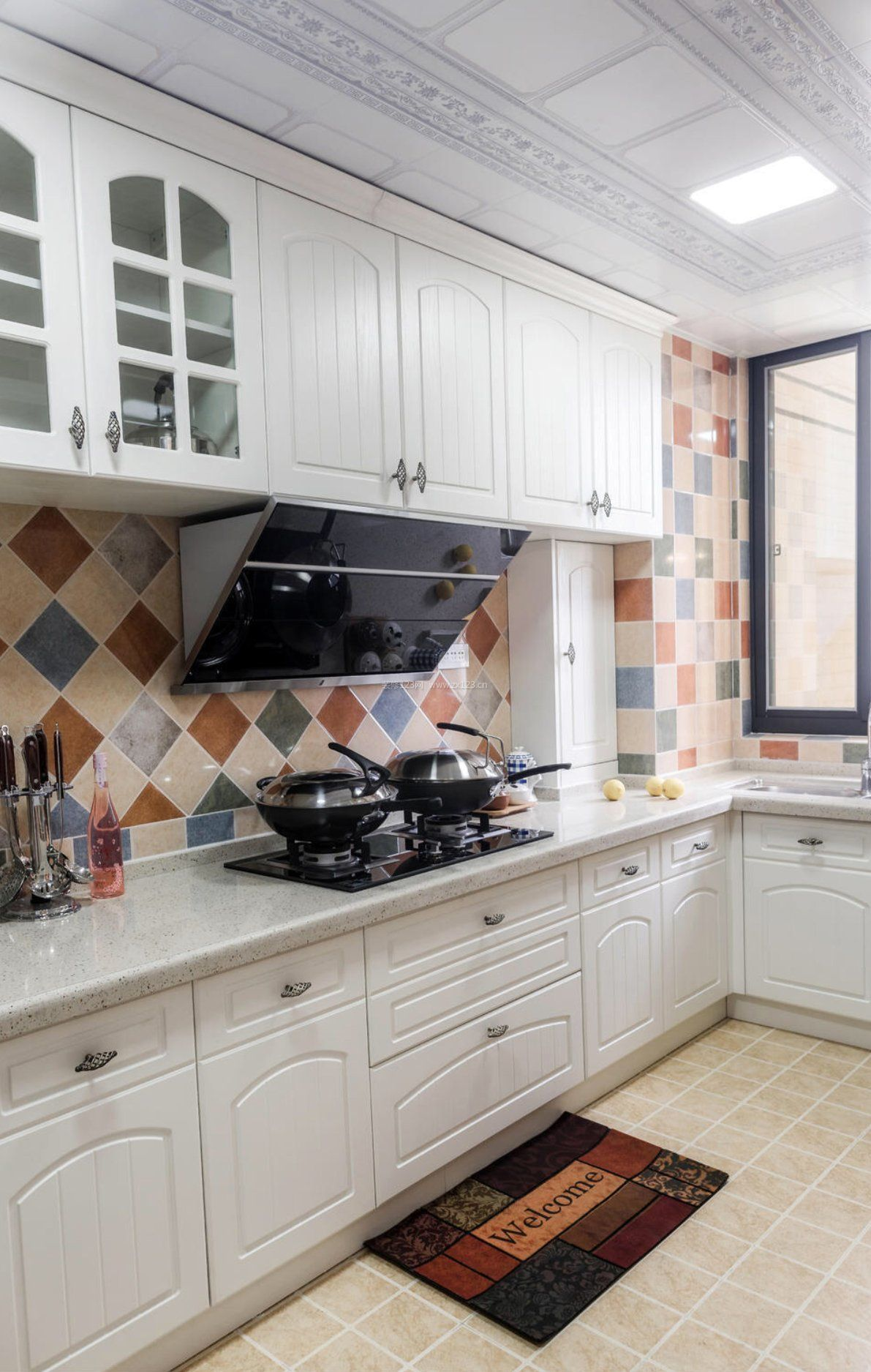 2017地中海风格厨房墙砖拼花贴图