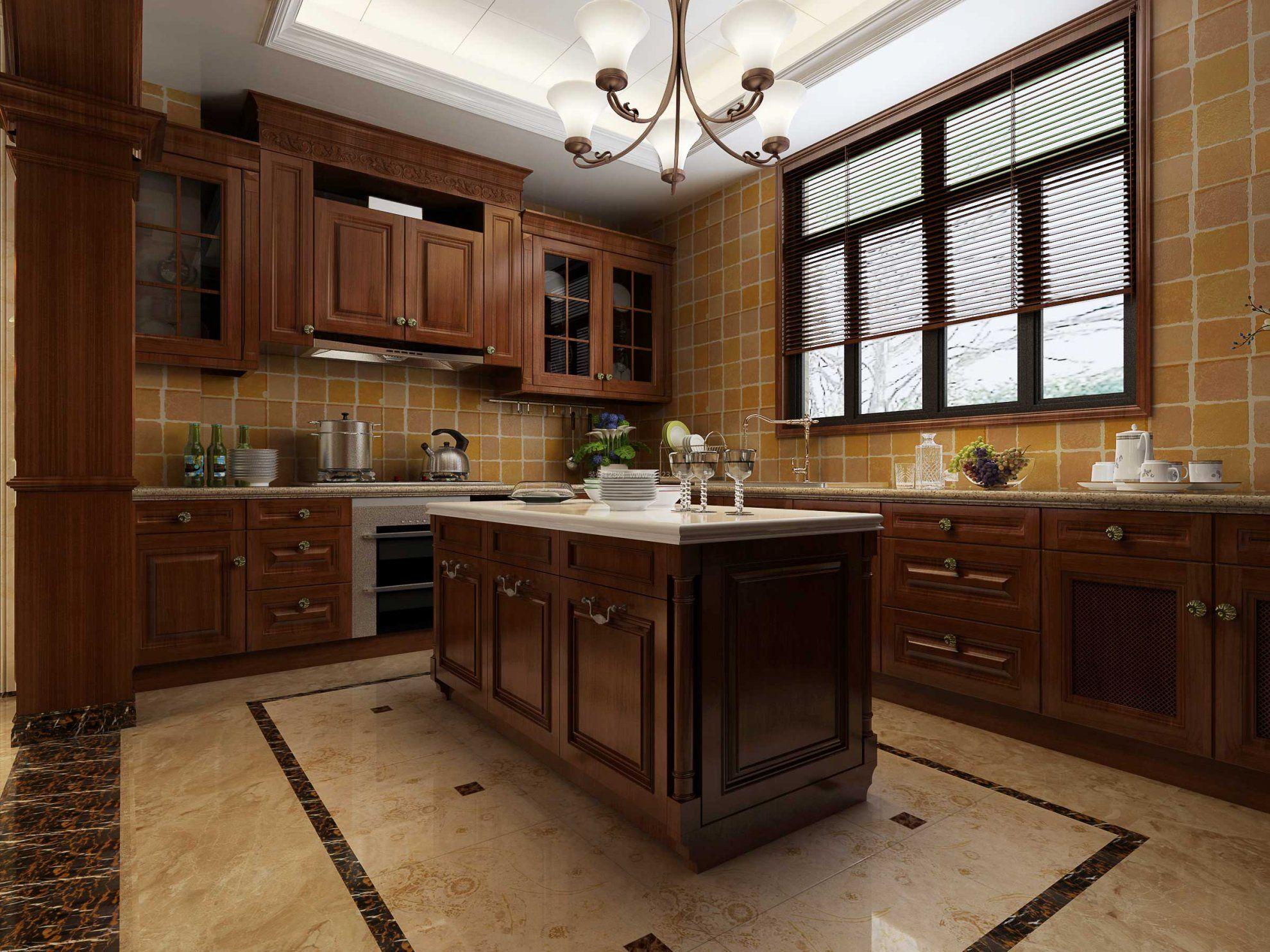 2017欧式别墅新厨房窗户效果图图片