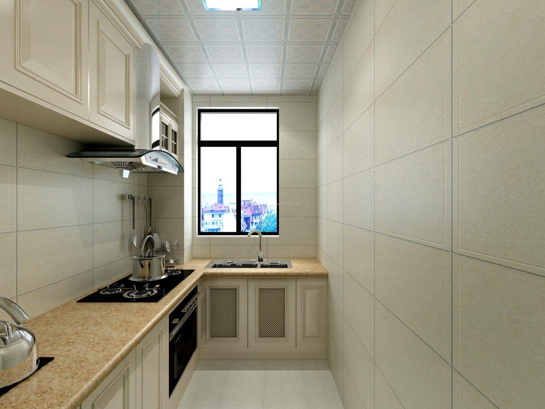 2017简约新厨房窗户效果图_装修123效果图
