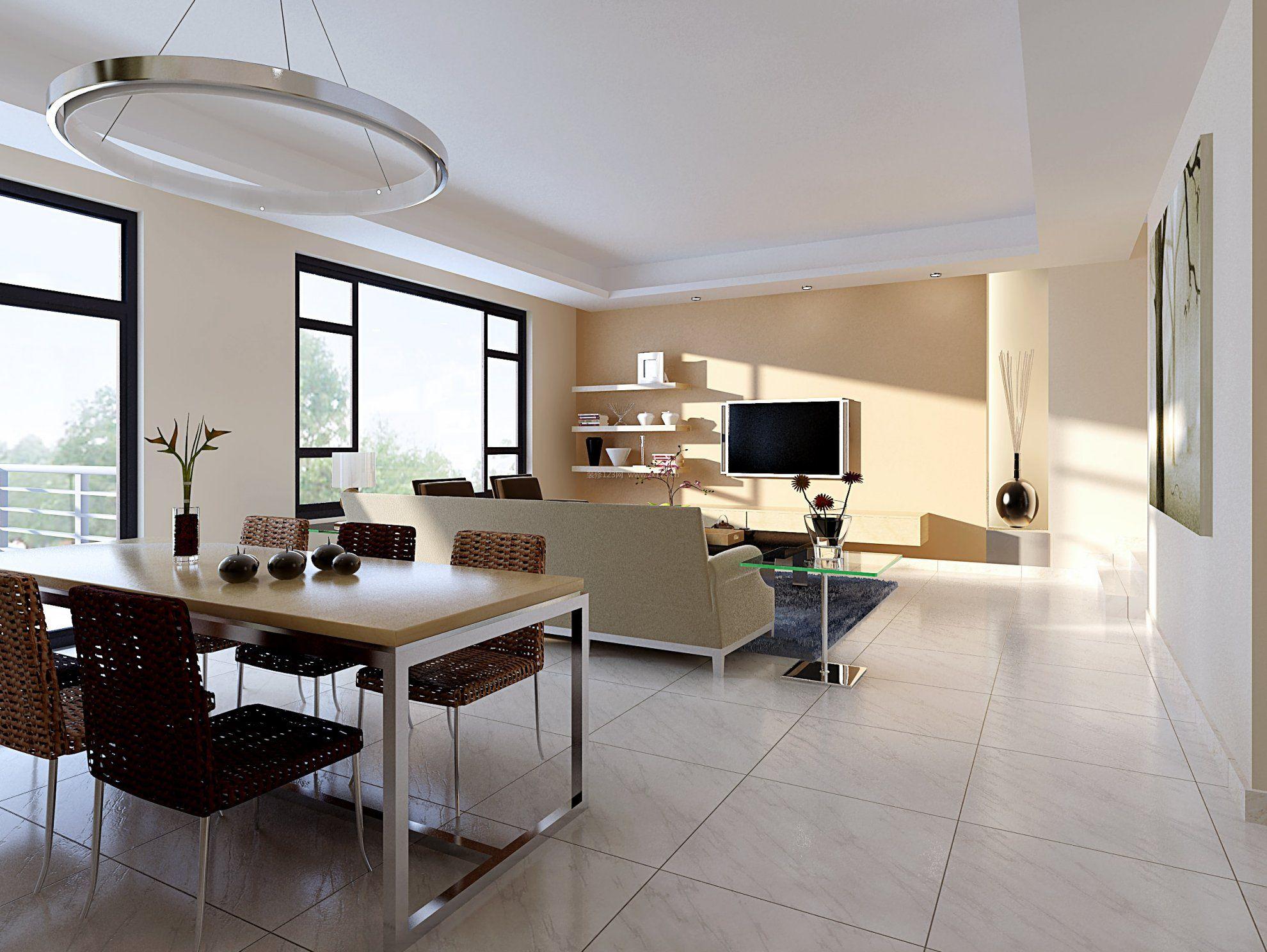 2017简约风格室内二居客厅装修效果图_装修123效果图