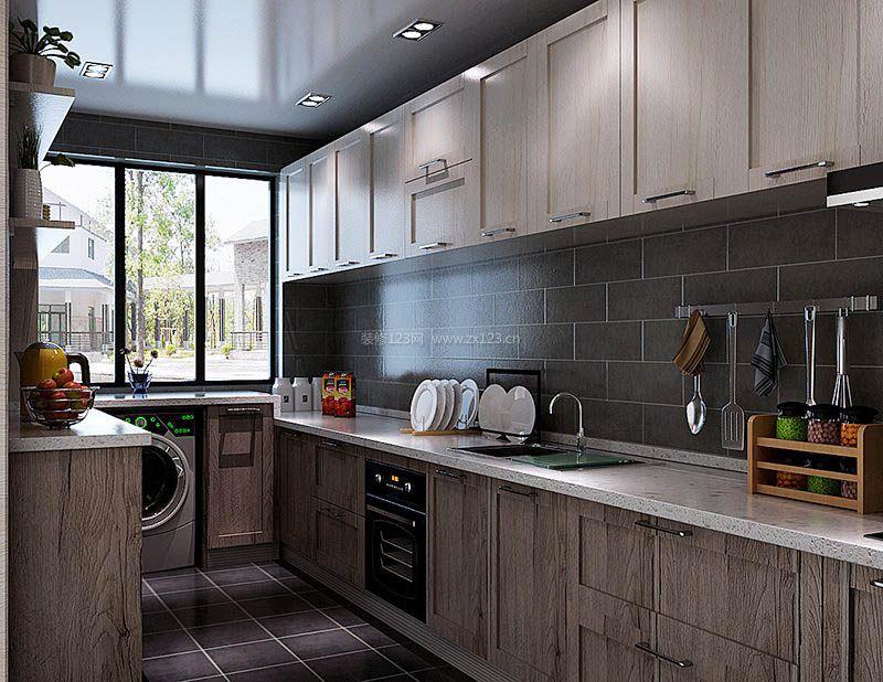 2017家庭新厨房窗户设计效果图