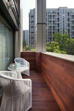 2017现代新中式客厅阳台装修效果实景图图片