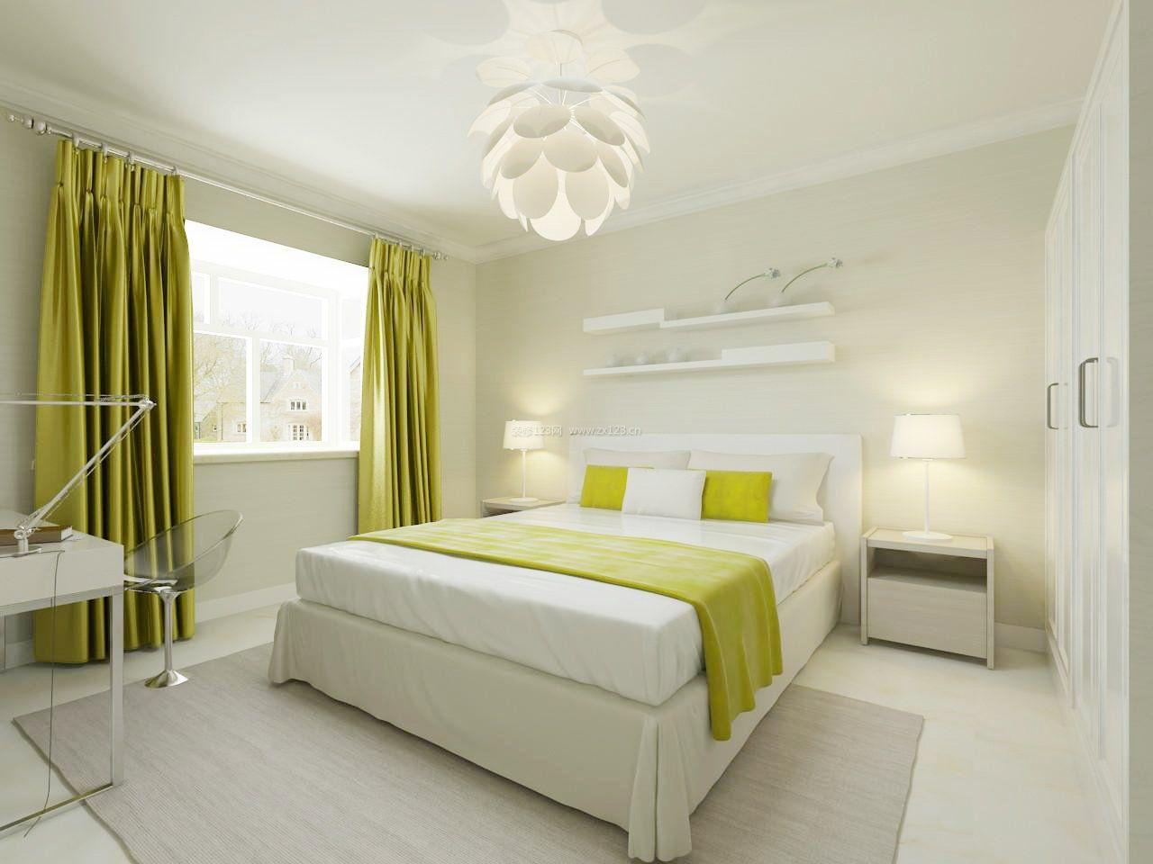 2017现代风格女生卧室窗帘颜色设计图