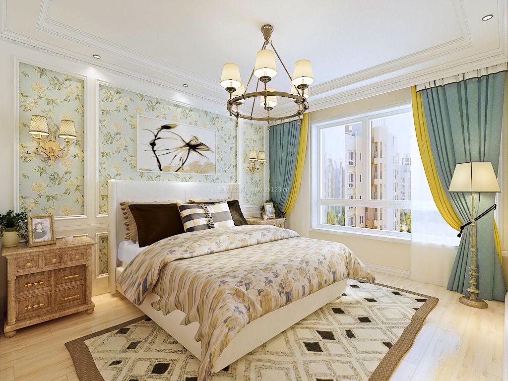 2017美式主卧室布置装修效果图片图片