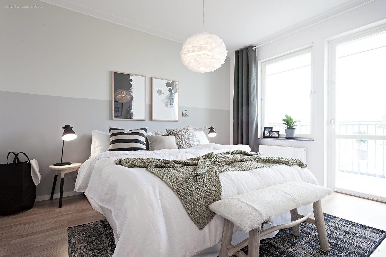2017现代北欧风格女生卧室设计图