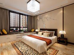 2017新中式主卧室飘窗榻榻米设计效果图图片