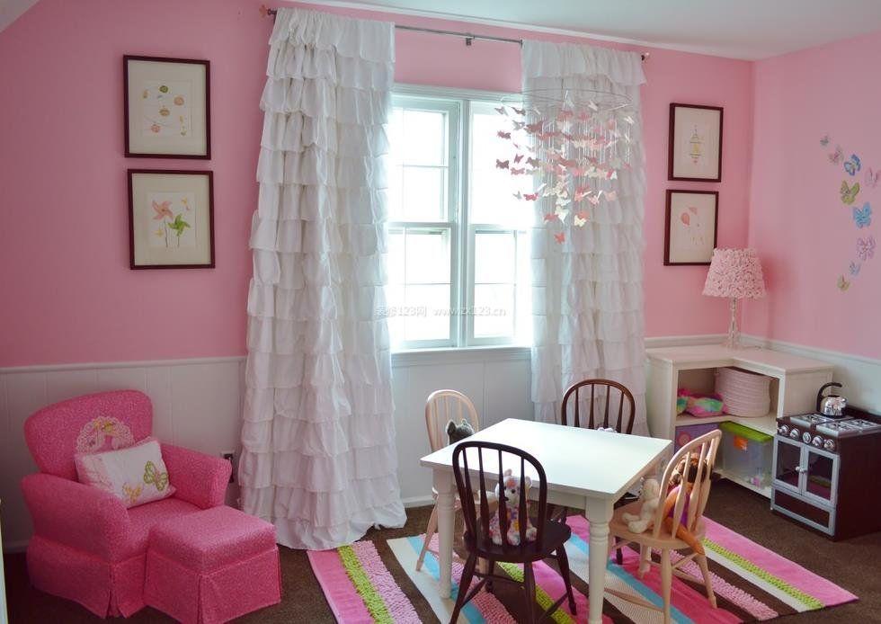 2017客厅淑女型窗帘设计图片大全小户型_装修123效果图