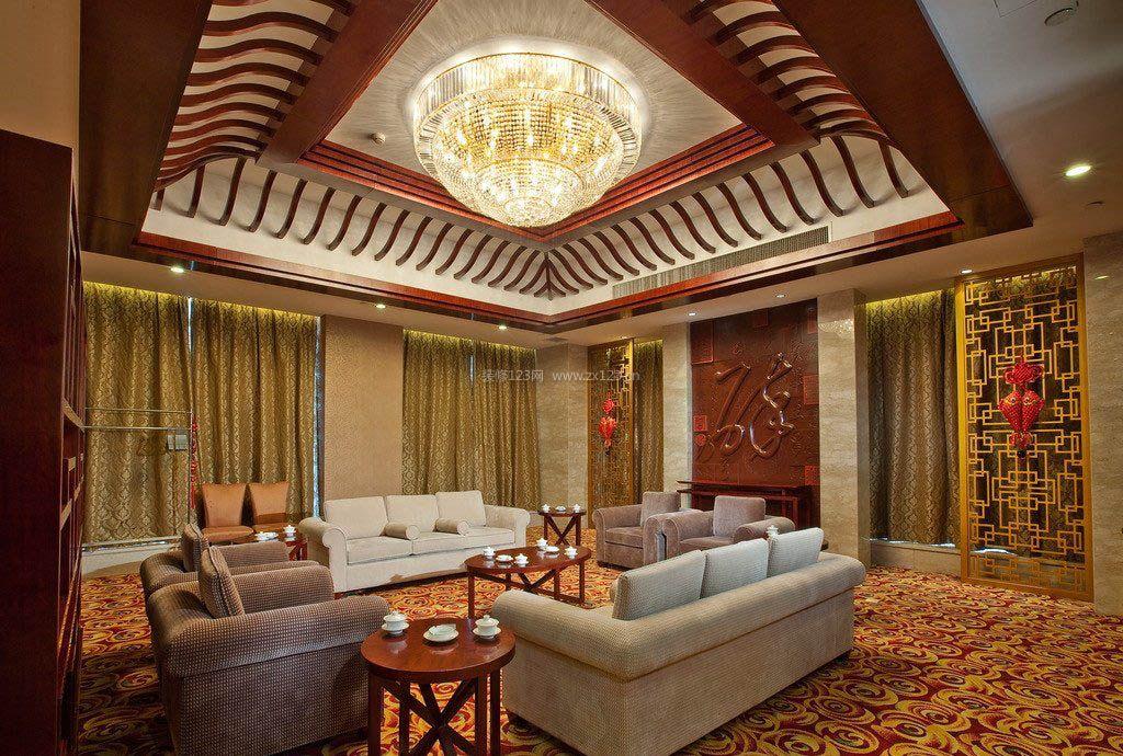 2017中式客厅明清家具茶几装修设计效果