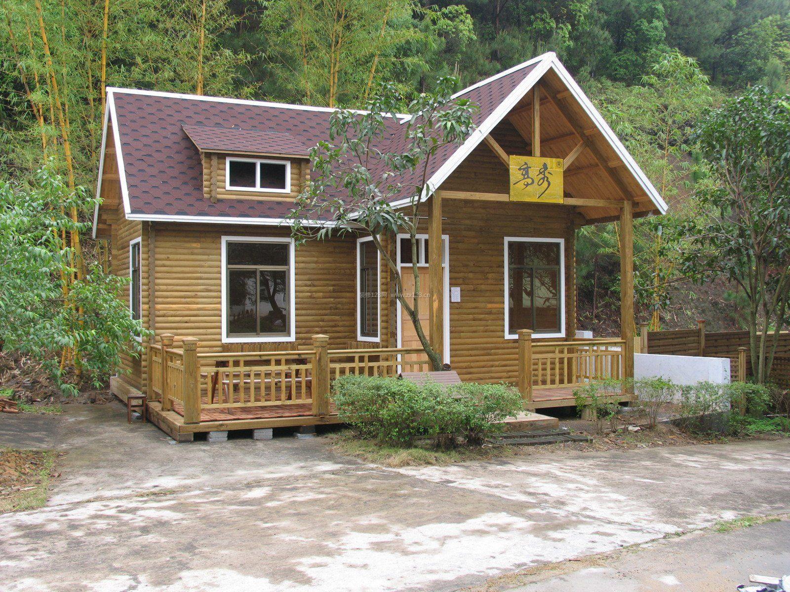 2017现代木制小别墅外观造型设计装修效果
