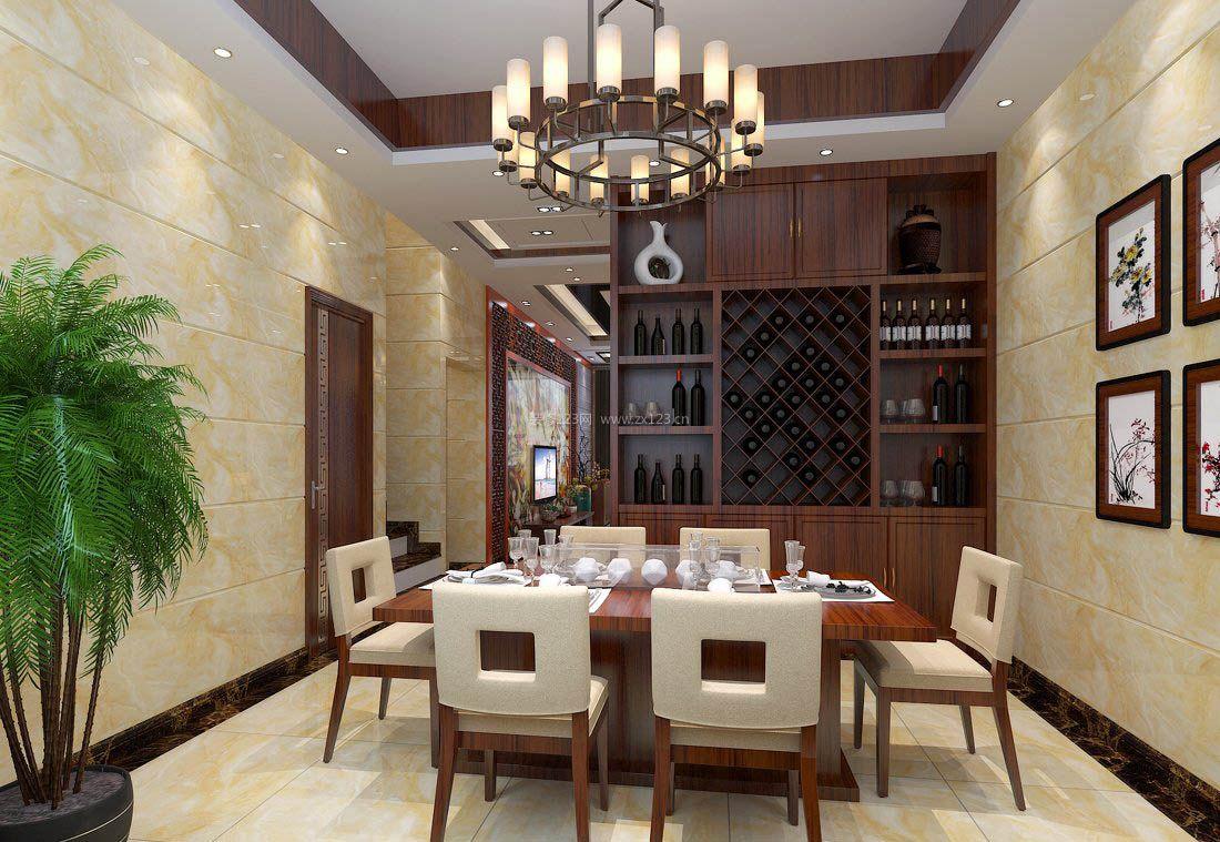 2017明清中式家具餐厅酒柜设计