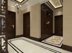 2017大户型中式家装玄关拼花地砖装修效果图图片