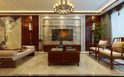 经典现代中式客厅电视背景墙装修效果图片图片
