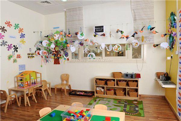 幼儿园装修室内文化墙布置效果图
