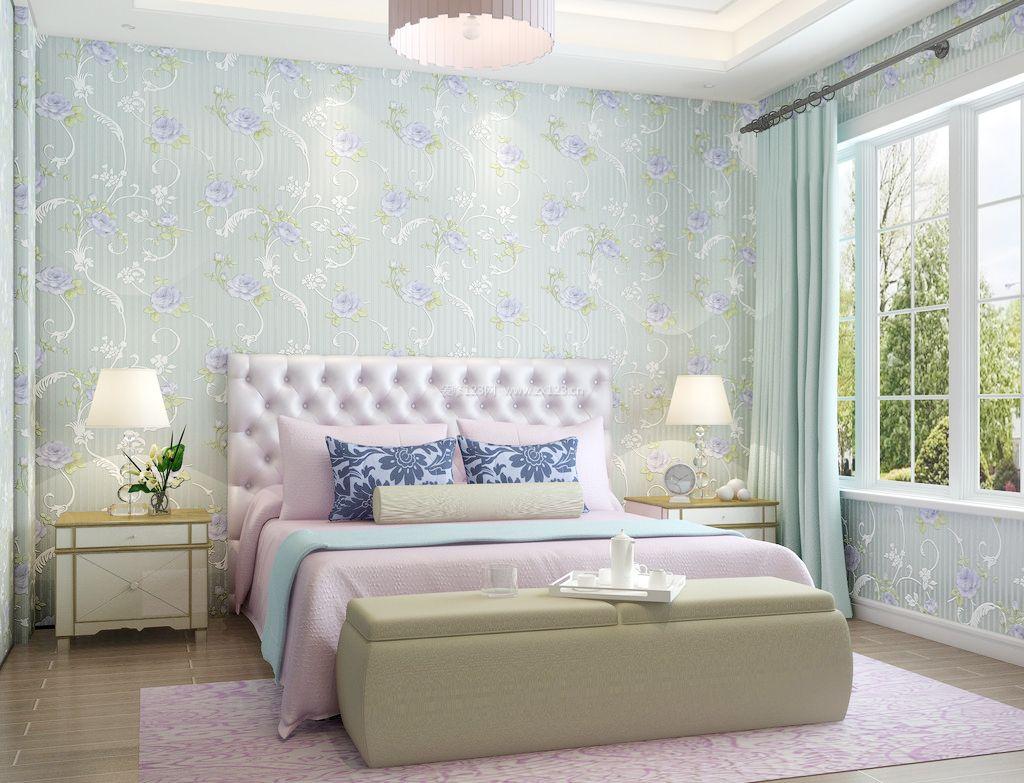 2017家装现代温馨卧室壁纸效果图