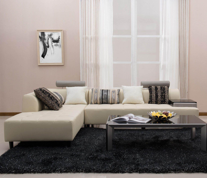 2017简约现代风格小客厅顾家沙发图片