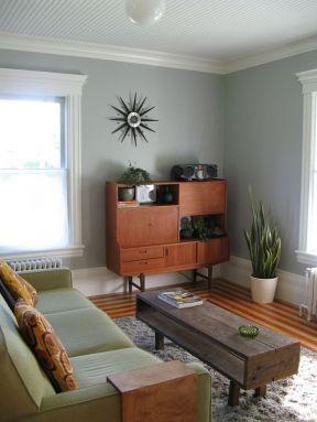 2017简约客厅墙角装饰柜设计图