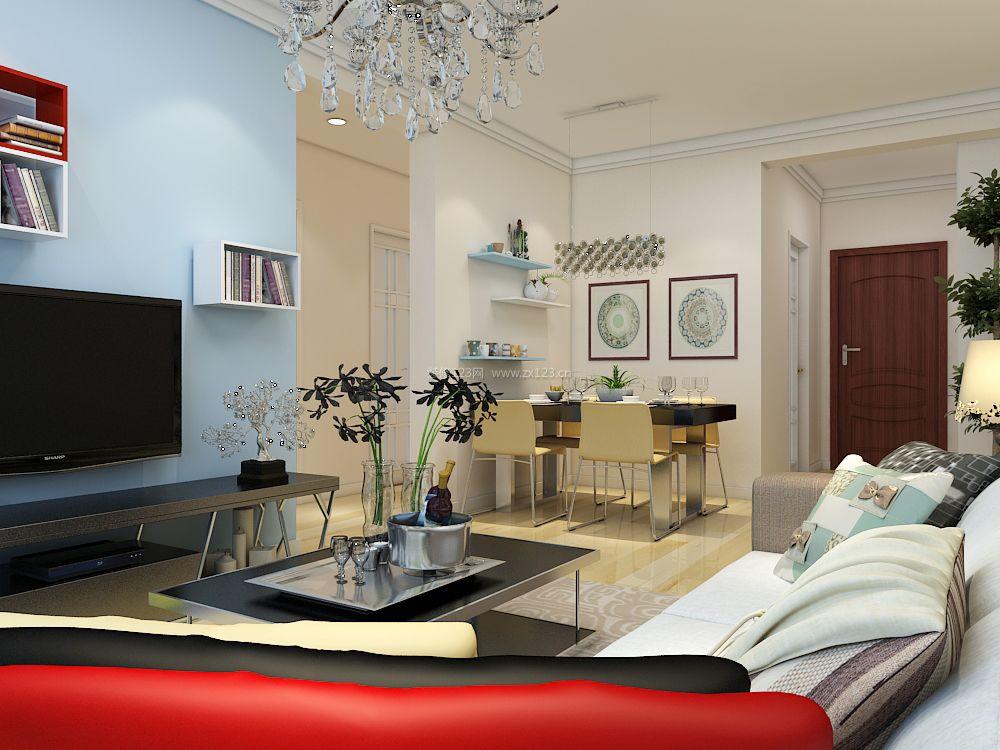 2017两室两厅房屋客餐厅设计图片大全