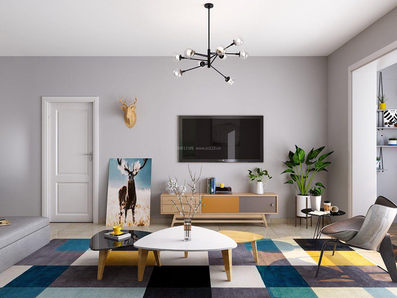 2017简欧风格客厅室内家具高清图片