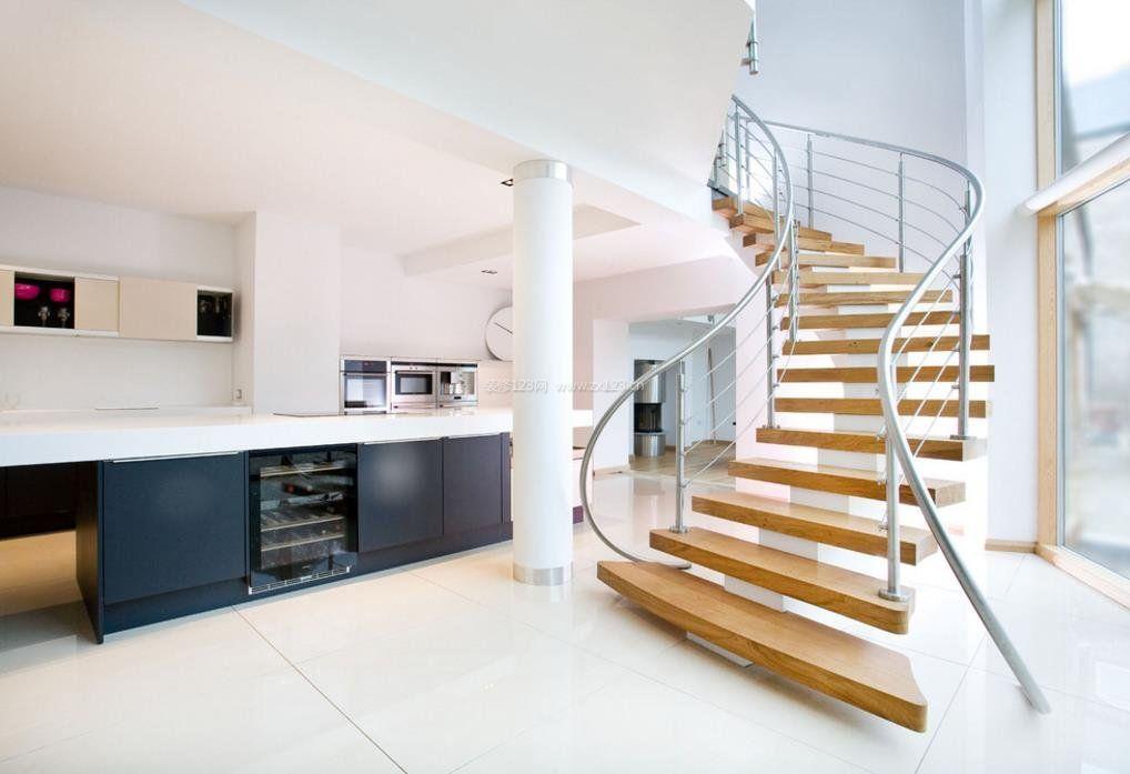 2017简约风格家庭旋转楼梯设计图
