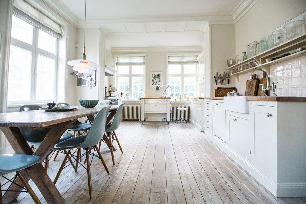 2017北欧风格大厨房装饰图片赏析_装修123效果图