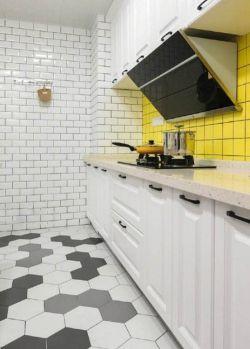 2017北欧风格白色厨房装饰_装修123效果图