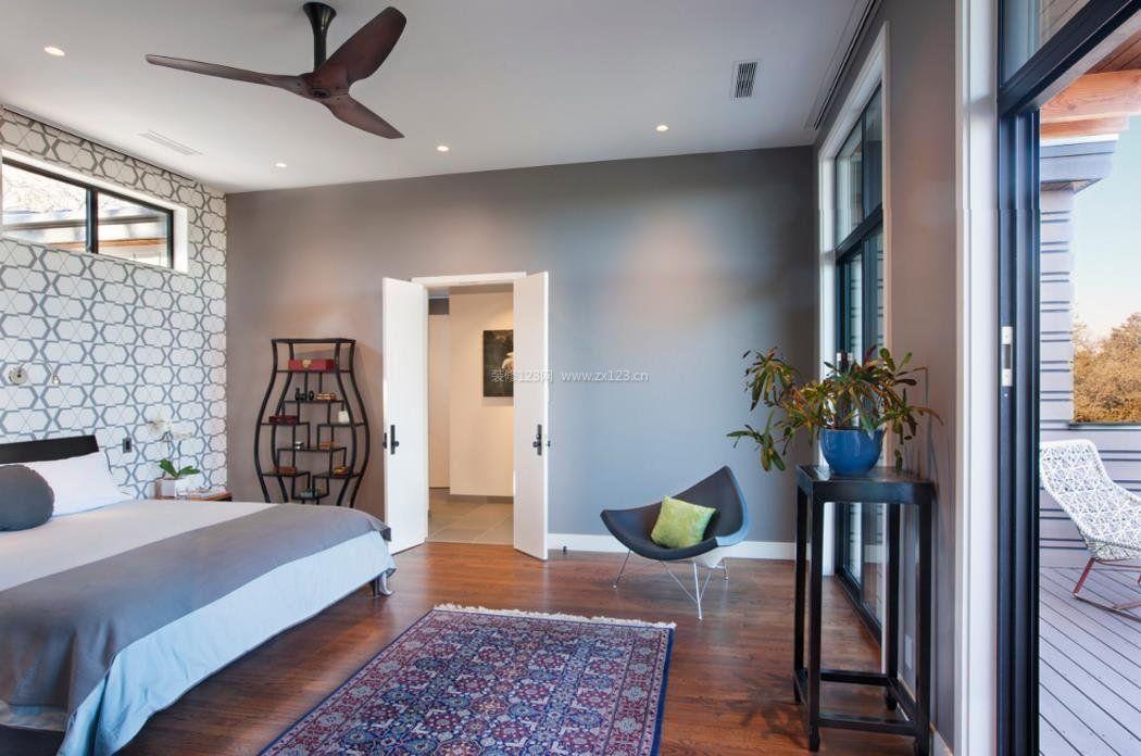 现代简装卧室设计效果图2017