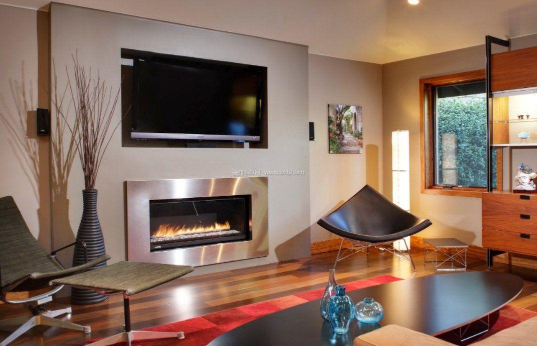 2017家装客厅壁炉装修效果图片欣赏