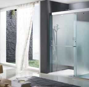 房屋高档磨砂玻璃门装修效果图片2020 2249 磨砂玻璃隔断浴室装修效果