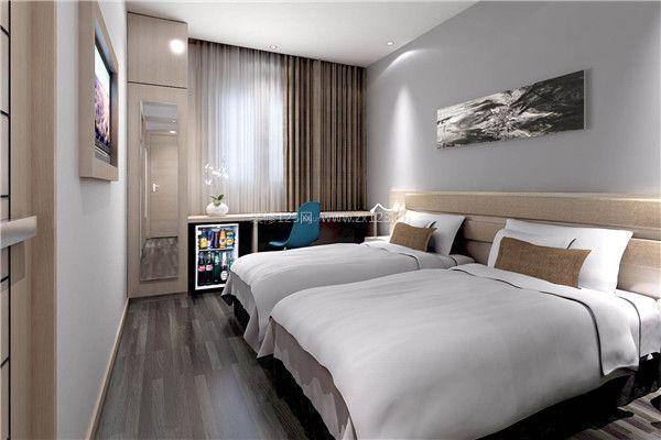 酒店装修标准间室内设计效果图图片