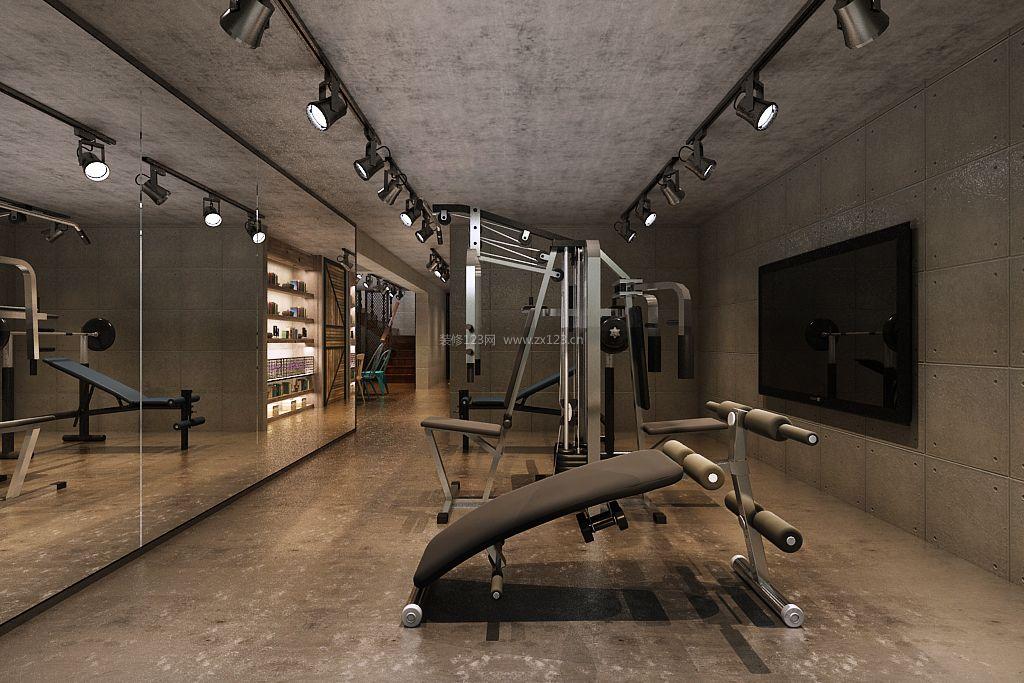 2017雅致新中式别墅健身房装修设计效果图