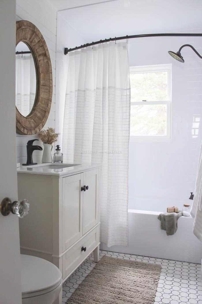 2017北欧风格浴室窗帘效果图片图片