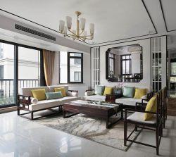 2017新中式客厅窗户装修效果图片图片
