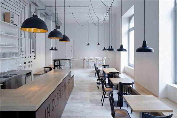 北欧风格餐馆店面装修效果图图片