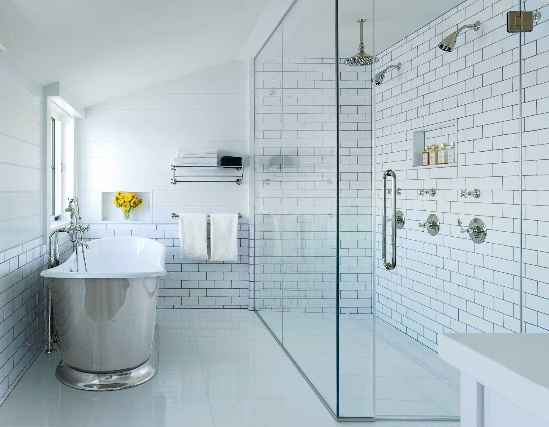 2017北欧风格家庭浴室置物架效果图图片