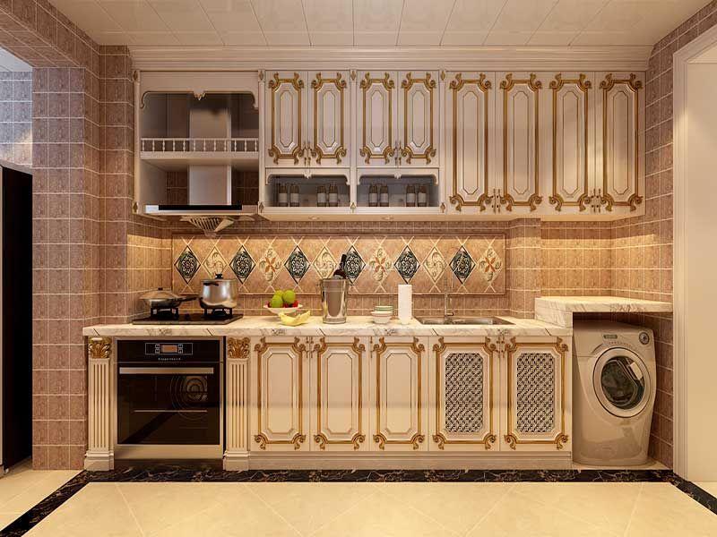 2017欧式风格厨房墙砖设计装修效果图图片