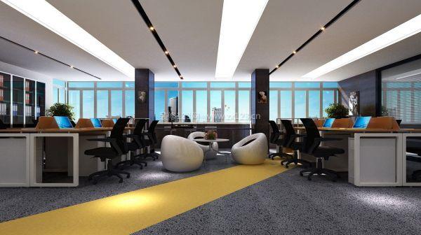 听办公室装修设计公司讲解创意黑白调搭配