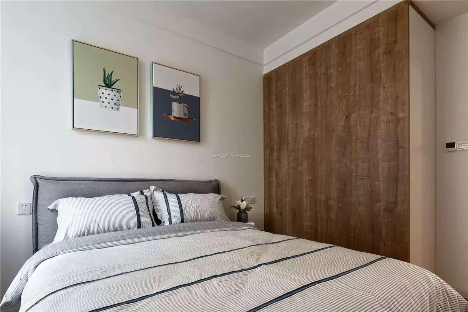 简约北欧风格卧室实木衣柜装修效果图