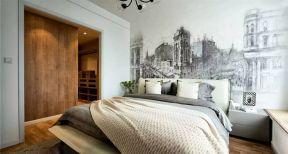 2017北欧风格书房卧室床头背景墙效果图图片