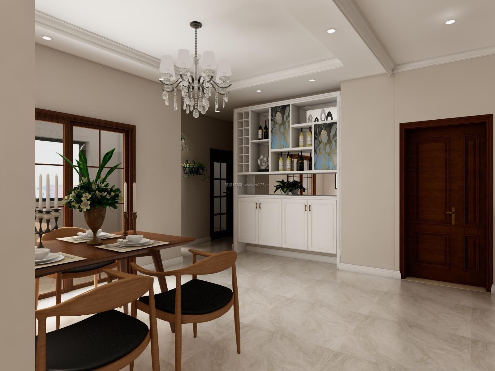 2017现代家装简约酒柜设计图欣赏