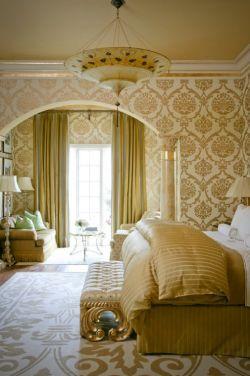 2014欧式风格别墅豪华女孩房间花纹壁纸效果图