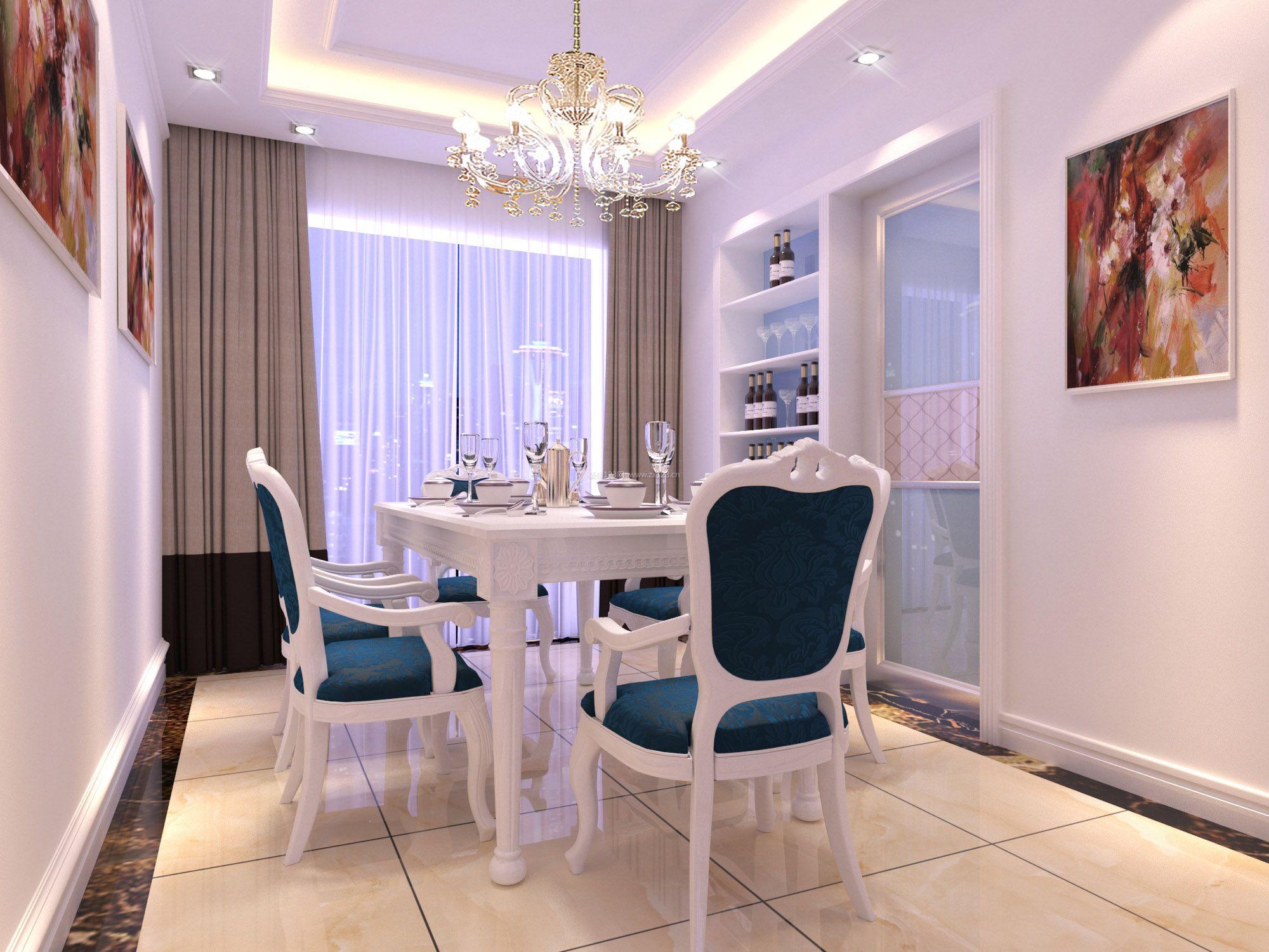 2017简欧家庭室内装修餐厅装饰效果图图片