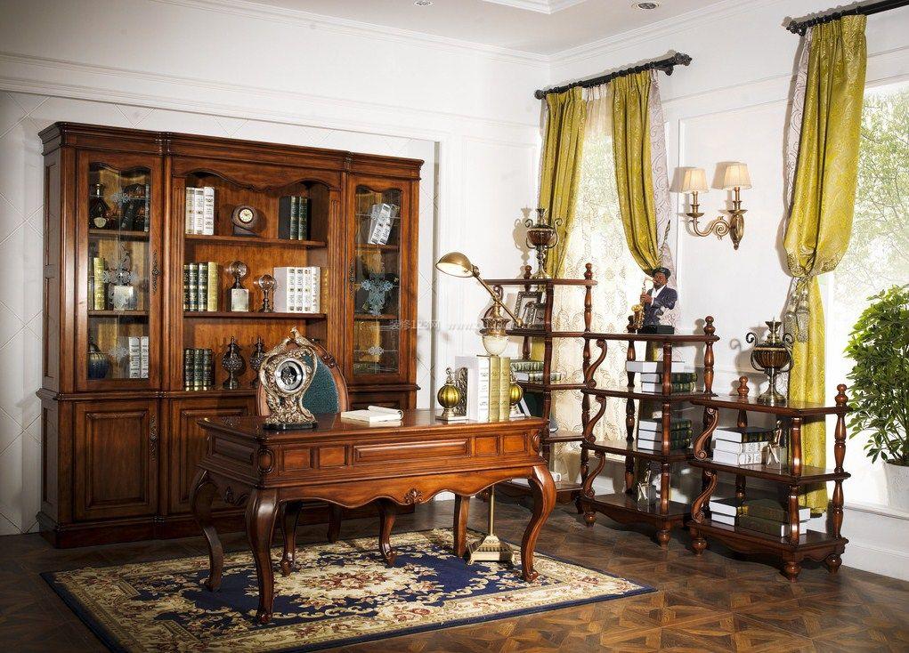 2017巴洛克欧式家具书房图片大全图片