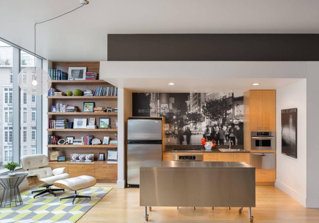 2017家庭阳台设计小书柜效果图